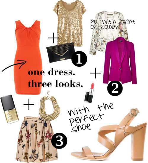 one dress. three ways