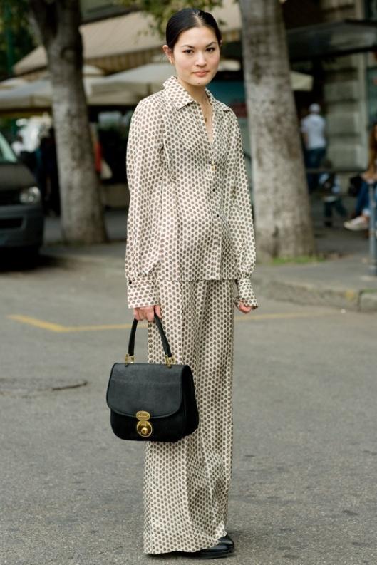 Pyjama trend, street style