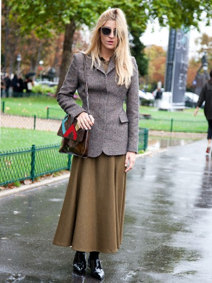 winter skirt and brogues