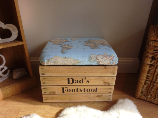creative personalised footstool shoe storage