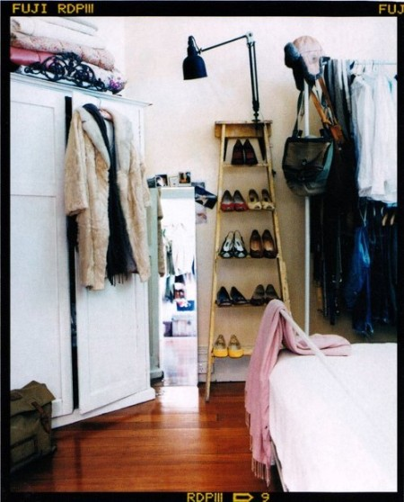 ladder for shoe storage display creative