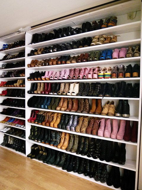 organised shoe wall