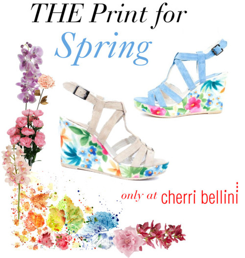 sprint print wedges floral