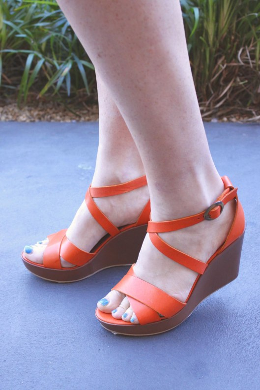orange wedge closeup