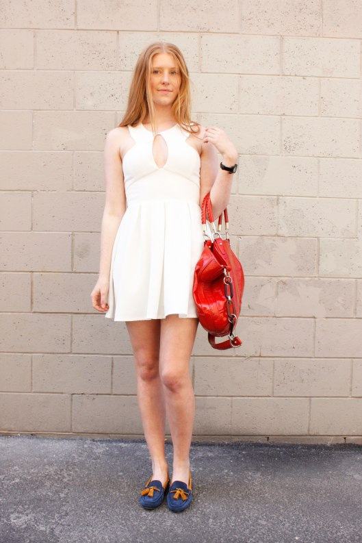 loafers-and-white-dress