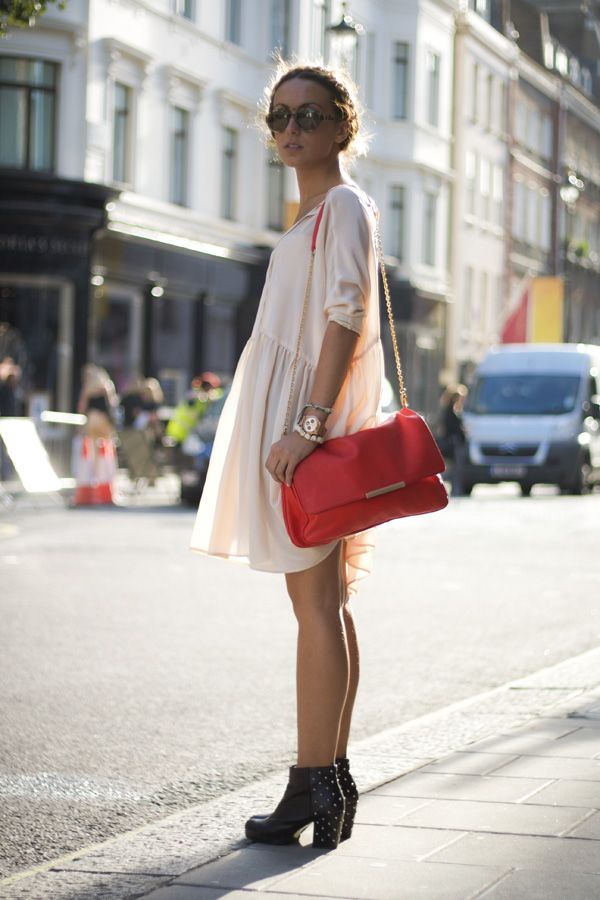 baggy dress and ankle boots