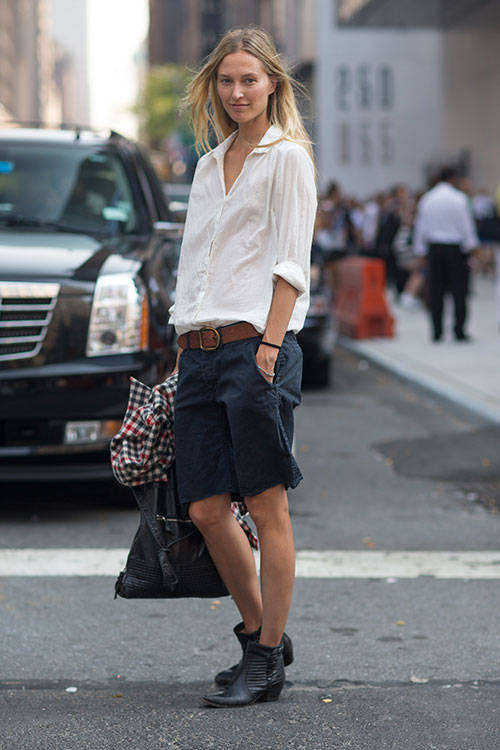 baggy shorts with ankle boots