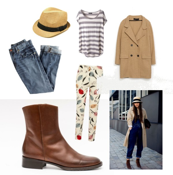 tan ankle boots polyvore