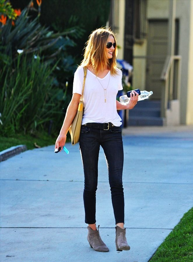 white t jeans ankle boots
